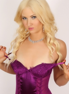 Ashlie Shows Off Her Perfect Tight Body In A Very Sexy Purple Lace Teddy - Picture 12